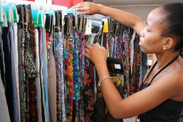 Wetive selecting fabrics